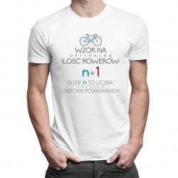 Wzór na optymalną ilość rowerów - męska koszulka z nadrukiem
