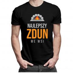Najlepszy zdun we wsi - męska koszulka z nadrukiem