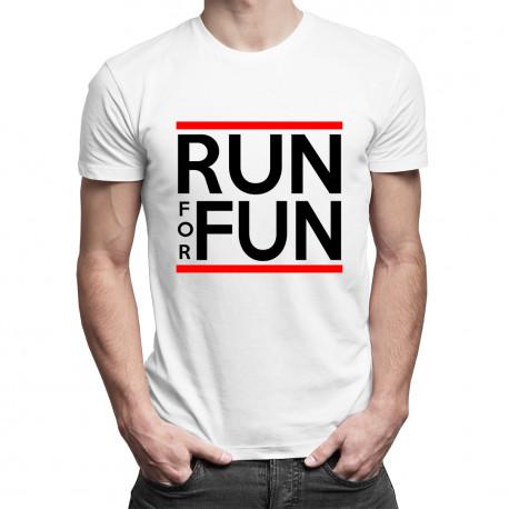 Run For Fun - męska koszulka z nadrukiem