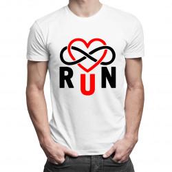 Run Infinity - męska koszulka z nadrukiem