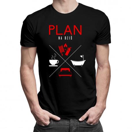Plan na dziś - strażak - męska koszulka z nadrukiem