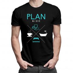 Plan na dziś - lekarz - męska koszulka z nadrukiem