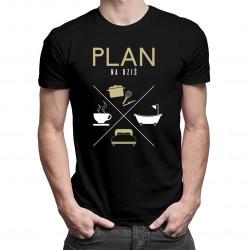 Plan na dziś - kucharz - męska koszulka z nadrukiem