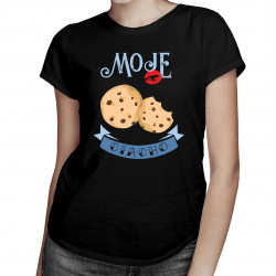 Moje ciacho - damska koszulka z nadrukiem