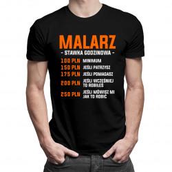 Malarz - stawka godzinowa - męska koszulka z nadrukiem