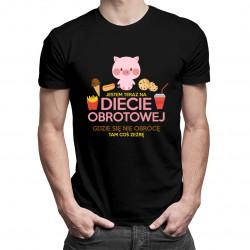 Jestem teraz na diecie obrotowej - męska koszulka z nadrukiem