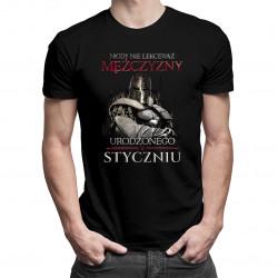 Nigdy nie lekceważ mężczyzny urodzonego w styczniu - męska koszulka z nadrukiem
