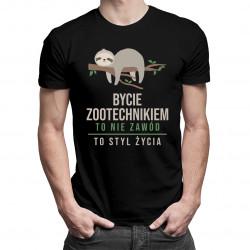 Bycie zootechnikiem to styl życia - męska koszulka z nadrukiem