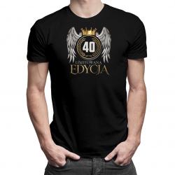 40 lat Edycja Limitowana (wersja 1) - męska lub damska koszulka z nadrukiem