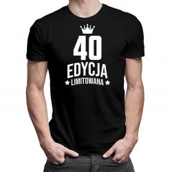 40 lat Edycja Limitowana (wersja 2) - męska lub damska koszulka z nadrukiem