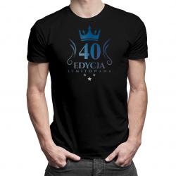 40 lat Edycja Limitowana (wersja 3) - męska koszulka z nadrukiem