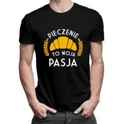 Pieczenie to moja pasja - męska koszulka z nadrukiem