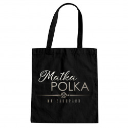 Matka polka na zakupach - torba z nadrukiem