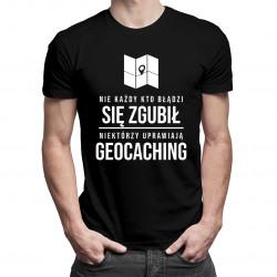 Geocaching - męska koszulka z nadrukiem
