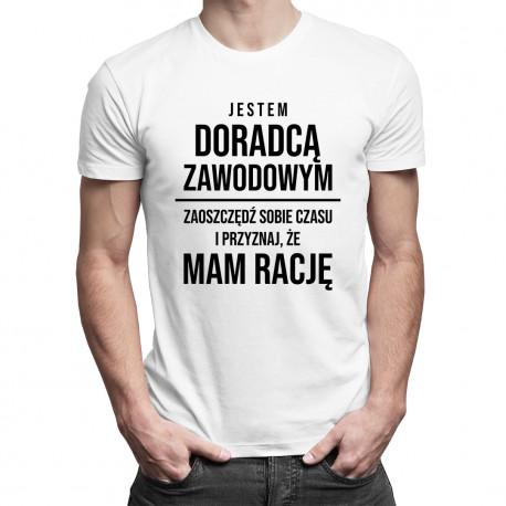 Jestem doradcą zawodowym - męska koszulka z nadrukiem