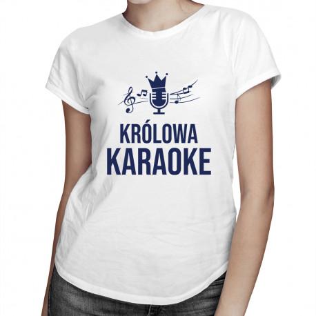 Królowa karaoke - damska koszulka z nadrukiem