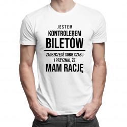 Kontroler biletów - męska koszulka z nadrukiem