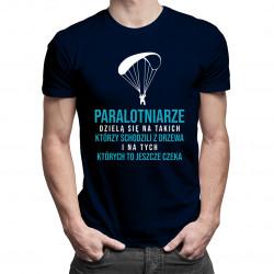 Typy paralotniarzy - męska koszulka z nadrukiem