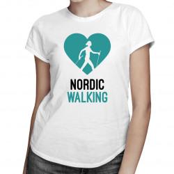 Nordic walking - damska koszulka z nadrukiem