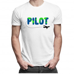 Pilot wycieczek - męska koszulka z nadrukiem