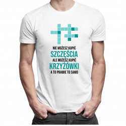 Nie możesz kupić szczęścia - krzyżówki - męska koszulka z nadrukiem