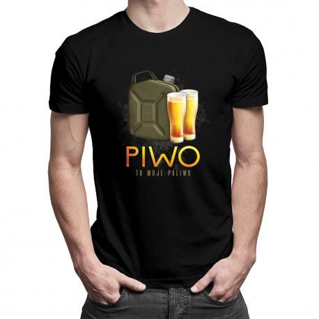 Piwo to moje paliwo - męska koszulka z nadrukiem