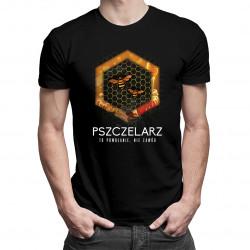 Pszczelarz to powołanie, nie zawód - męska koszulka z nadrukiem