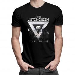 Jestem listonoszem, bo to moje powołanie - męska koszulka z nadrukiem
