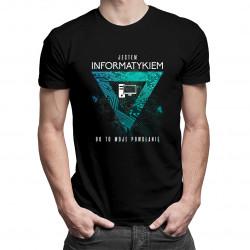 Jestem informatykiem, bo to moje powołanie - męska koszulka z nadrukiem