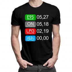 E95 ON LPG Rower - damska lub męska koszulka z nadrukiem