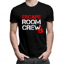 Escape room crew - męska koszulka z nadrukiem
