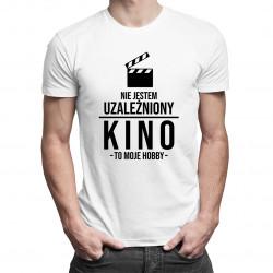 Nie jestem uzależniony, kino to moje hobby - męska koszulka z nadrukiem