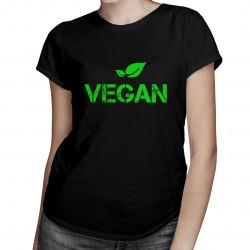 Vegan - damska koszulka z nadrukiem