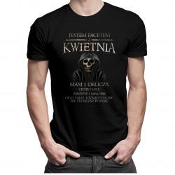 Jestem facetem z kwietnia - mam 3 oblicza - wersja 2 - męska koszulka z nadrukiem