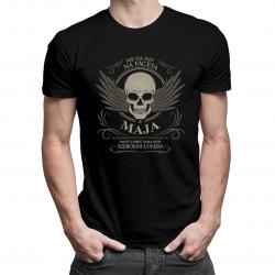 Nie ma siły na faceta z maja - męska koszulka z nadrukiem