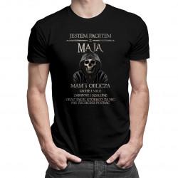 Jestem facetem z maja. Mam 3 oblicza - męska koszulka z nadrukiem