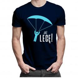 Już lecę! - męska koszulka z nadrukiem