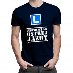 Instruktor ostrej jazdy - męska koszulka z nadrukiem