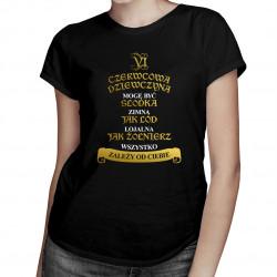 Czerwcowa dziewczyna - damska koszulka z nadrukiem