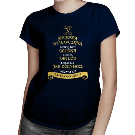 Majowa dziewczyna - damska koszulka z nadrukiem