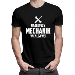 Najlepszy mechanik w całej wsi - męska koszulka z nadrukiem