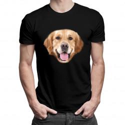 Golden retriever - męska lub damska koszulka z nadrukiem