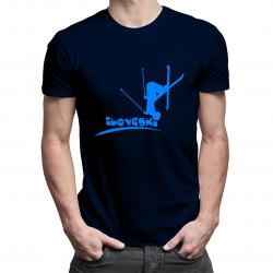 I Love Ski - męska koszulka z nadrukiem