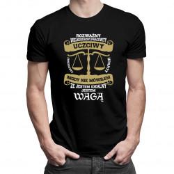 Mój znak zodiaku to Waga - męska koszulka z nadrukiem