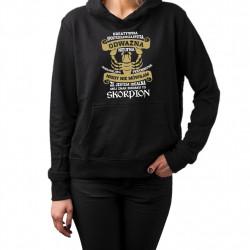 Mój znak zodiaku to Skorpion - damska bluza z nadrukiem