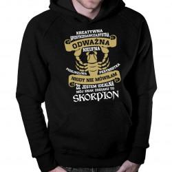 Jestem skorpionem - męska bluza z nadrukiem