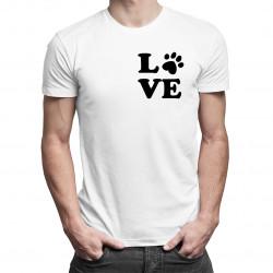 Koszulka Love - damska lub męska koszulka z nadrukiemLove