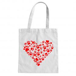 Torba bawełniana z sercem - torba z nadrukiem