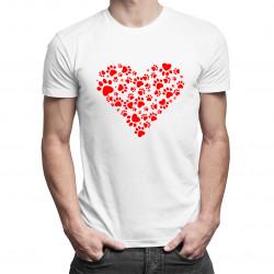 Koszulka z sercem - damska lub męska koszulka z nadrukiem