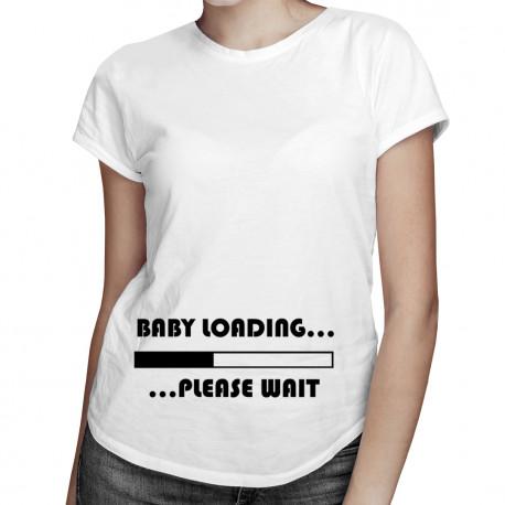 Baby loading ... - damska koszulka z nadrukiem